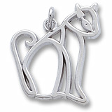 Sterling Silver Cat Charm by Rembrandt Charms