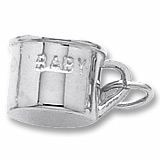 Sterling Silver Baby Cup Charm by Rembrandt Charms
