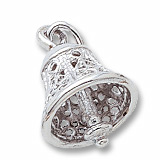 Sterling Silver Bell and Clapper Charm by Rembrandt Charms
