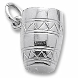 Sterling Silver Bongo Drum Charm by Rembrandt Charms