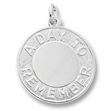 Sterling Silver A Day To Remember Disc Charm by Rembrandt Charms
