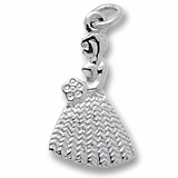 Sterling Silver Bridesmaid or Flower Girl Charm by Rembrandt Charms