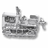 Sterling Silver Bulldozer Charm by Rembrandt Charms