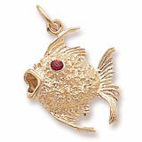 14K Gold Angelfish with Stones Charm by Rembrandt Charms