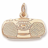 14K Gold Boom Box Charm by Rembrandt Charms