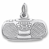 Sterling Silver Boom Box Charm by Rembrandt Charms