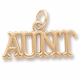 14K Gold Aunt Charm by Rembrandt Charms