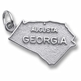 Sterling Silver Augusta, Georgia Charm by Rembrandt Charms