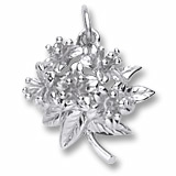 Sterling Silver Azalea Flower Charm by Rembrandt Charms