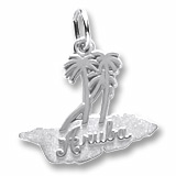 Sterling Silver Aruba Palm Trees Charm by Rembrandt Charms
