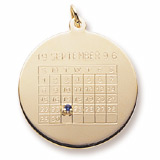 14k Gold Birthstone Calendar Charm by Rembrandt Charms