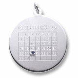 Sterling Silver Birthstone Calendar Charm by Rembrandt Charms