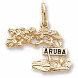 14K Gold Aruba Cypress Tree Charm by Rembrandt Charms