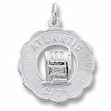 Sterling Silver Atlantic City Slots Charm by Rembrandt Charms