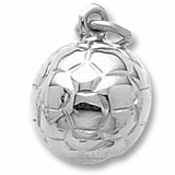 Sterling Silver Soccer Ball Charm by Rembrandt Charms