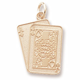 14K Gold Black Jack Cards Charm by Rembrandt Charms