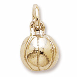 14K Gold Basketball Accent Charm by Rembrandt Charms