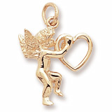 14K Gold Angel and Heart Charm by Rembrandt Charms