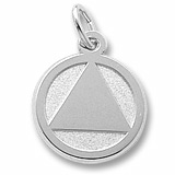 Sterling Silver AA Alcoholics Anonymous Charm by Rembrandt Charms