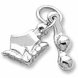 Sterling Silver Bikini Accent Charm by Rembrandt Charms