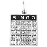Sterling Silver Bingo Card Charm by Rembrandt Charms