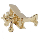 14K Gold Biplane Charm by Rembrandt Charms