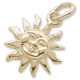 14K Gold Small Cayman Sunshine Charm by Rembrandt Charms