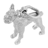 Sterling Silver Boston Terrier Charm by Rembrandt Charms