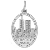 Sterling Silver World Trade Center 9-11 Charm by Rembrandt Charms