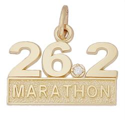 14k Gold 26.2 Marathon (stone) by Rembrandt Charms