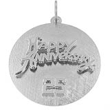 Sterling Silver Twenty Fifth Anniversary Disc by Rembrandt Charms