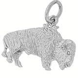 Sterling Silver Buffalo Charm by Rembrandt Charms