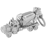Sterling Silver Cement Truck Charm by Rembrandt Charms