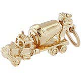 14K Gold Cement Truck Charm by Rembrandt Charms