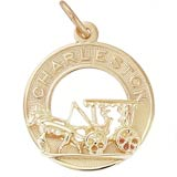 14K Gold Charleston Carriage Charm by Rembrandt Charms