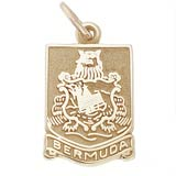 14K Gold Bermuda Crest Charm by Rembrandt Charms