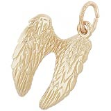 14K Gold Angel Wings Charm by Rembrandt Charms