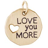 14K Gold Love you more charm