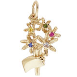 14K Gold Bouquet Charm Select Stones by Rembrandt Charms