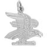 Sterling Silver American Bald Eagle Charm by Rembrandt Charms