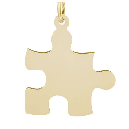 14k Gold Autism Puzzle Piece Charm by Rembrandt Charms
