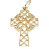 14K Gold Ornate Celtic Cross Charm by Rembrandt Charms