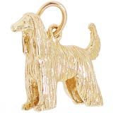 14K Gold Afghan Dog Charm
