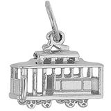 Sterling Silver Cable Car Charm by Rembrandt Charms