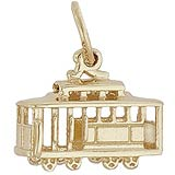 14K Gold Cable Car Charm
