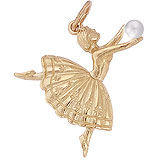 14K Gold Ballet Dancer Charm by Rembrandt Charms