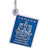 Sterling Silver Canadian Passport Charm by Rembrandt Charms