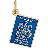 14K Gold Canadian Passport Charm by Rembrandt Charms