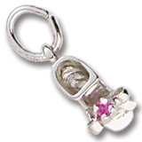 Sterling Silver Birth Month 07 Jul Bootie Accent by Rembrandt Charms