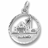 Sterling Silver The Alamo Faceted Charm by Rembrandt Charms